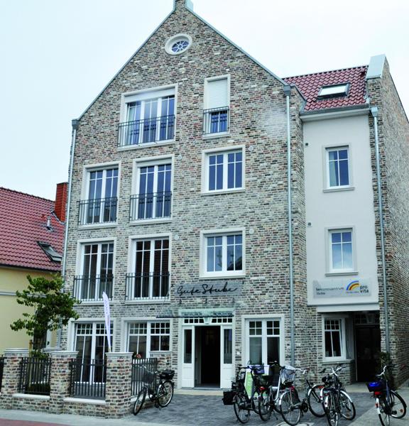 Das Seniorenzentrum an der Bremer Straße. Der Eingang der Tagespflege befindet sich auf der Gebäuderückseite.
